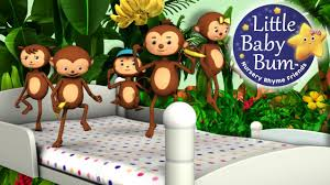 five little monkeys jumping on the bed part 1 in hd from