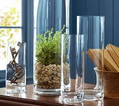 Clear Glass Vases With Lids Aegean Clear Glass Vases Pottery Barn