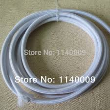10 meters white color 2 core 0 75mm2 textile electrical wire color