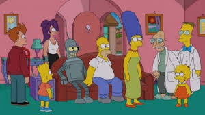 look at the simpsons futurama crossover episode den of