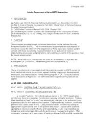 us army army nsps interim instruction 31aug2007 internship