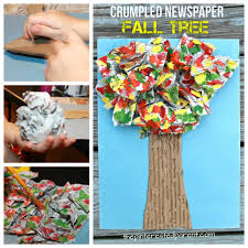 crumpled newspaper fall tree u2013 the pinterested parent