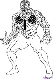 spiderman and venom coloring page free download