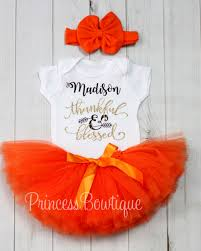 thanksgiving baby tutu dress custom name added for free to baby