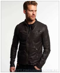 superdry brown real hero biker leather jacket l855658 superdry outerwear mens leather jackets
