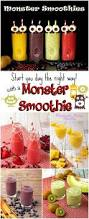 monster smoothies for halloween the bearfoot baker