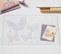 Butterfly Desk Accessories Acrylic Glitter Cloud Desk Blotters Pbkids Time For A Big