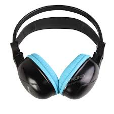 lexus headphones uk blue ir wireless cordless dual channels infrared stereo