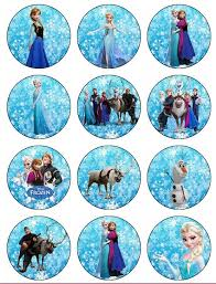 frozen cupcake toppers childrens