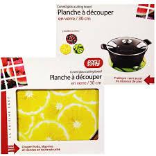 planche a decouper verre cuisine 1 planche a decouper verre 30 cm citron cerise kiwi cuisine achat