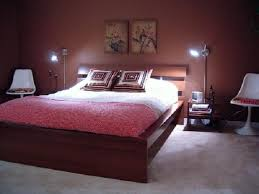 admirable brown wooden master bed combine brown wall color and