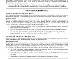 Resume For Financial Analyst Littlesushitown Com Wp Content Uploads 2017 07 Sty