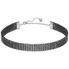swarovski choker necklace images Swarovski fit choker necklace jet 5355185 duty free crystal jpg