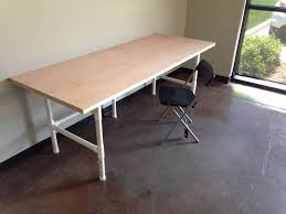 Diy Door Desk The 74 Pvc Mega Awesome Pvc Table 8 Steps With Pictures