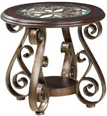 glass top end table with drawer espresso bombay old world end table with glass top and s scroll legs by