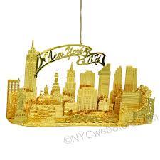 new york city christmas ornament brass 3d skyline a beautifully