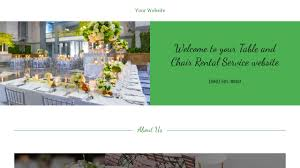 Table Chair Rental by Table And Chair Rental Service Website Templates Godaddy