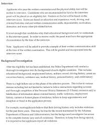 Employment History Example Police Officer Hiring Procedure Police