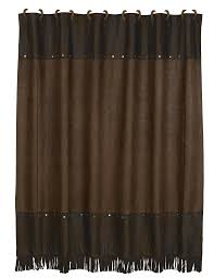 Shower Curtain Amazon Com Hiend Accents Faux Tooled Leather Western Shower