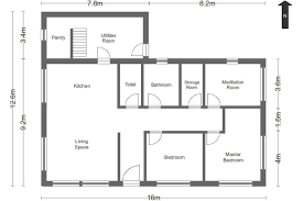 Simple House Floor Plans With Measurements Simple Floor Plans Measurements House Home Plans Simple House