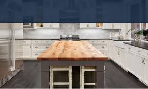 blue kitchen cabinets with wood countertops kitchen countertops accessories