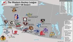 Map Of Western Canada by Junior Hockey In Canada The Western Hockey League 2007 08 Season