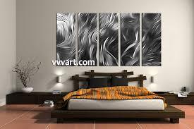Grey Bedroom Wall Art 5 Piece Abstract Grey Multi Panel Canvas