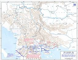 Map Of Serbia Balkan Salonikan Front After The Defeat Of Serbia 1915 And
