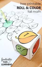 free printable roll and color fall math fantastic fun u0026 learning