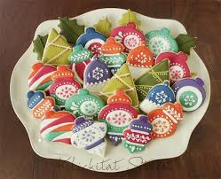 retro ornament cookies klickitat