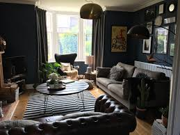 dark interiors living room painted with farrow and ball stiffkey