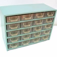 sold vintage metal storage organizer 20 drawer industrial
