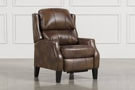 douglas caramel high leg recliner living spaces