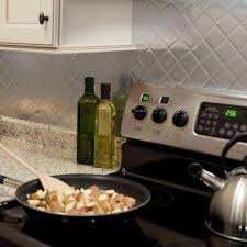 aluminum kitchen backsplash brushed aluminum pattern tile backsplashes tile the home depot