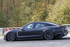 porsche mission e red spied porsche caught flogging the mission e on the nurburgring