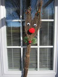 christmas rudolph the red nosed reindeer craft with cinnamon broom
