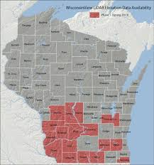 Wisconsin Snowmobile Trails Map by Lidar Elevation Data Now Available On Wisconsinview Wisconsin