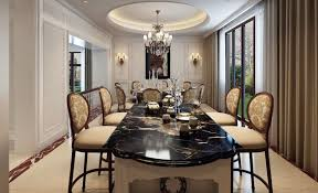 amazing black marble dining room table ideas 3d house designs large interior dining room with white marble table top design and