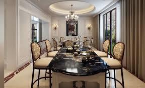 black dining room black marble dining room table interior design