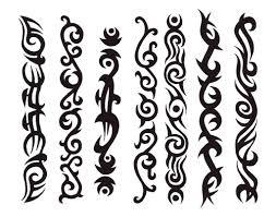 tribal band stencils