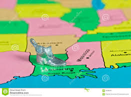 Louisiana State Map by Toy Boot On The State Of Louisiana Stock Photo Image 56088361
