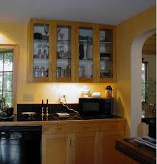 Kitchen  Ultra Modern Transparent Glass Kitchen Cabinet Door - Modern kitchen cabinets doors