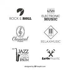 imagenes logos musicales colección de logotipos de música descargar vectores gratis
