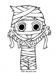 print out halloween kids mummy coloring page printable coloring