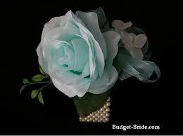 Teal Corsage Wedding Rose Wrist Corsage