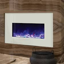Electric Fireplace White White Electric Fireplace Electric Flames