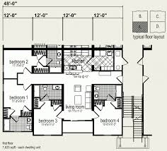 Multi Family Homes Plans Multi Family Floor Plans Ahscgs Com