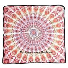 boho mandala indian ottoman outdoor poufs cover square floor pillows