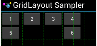 grid layout for android android gridlayout and row column span woe stack overflow