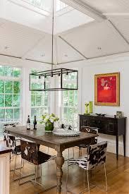 Rectangular Chandeliers Dining Room Rectangular Chandelier Dining Room Midcentury With Bar Bar Stools